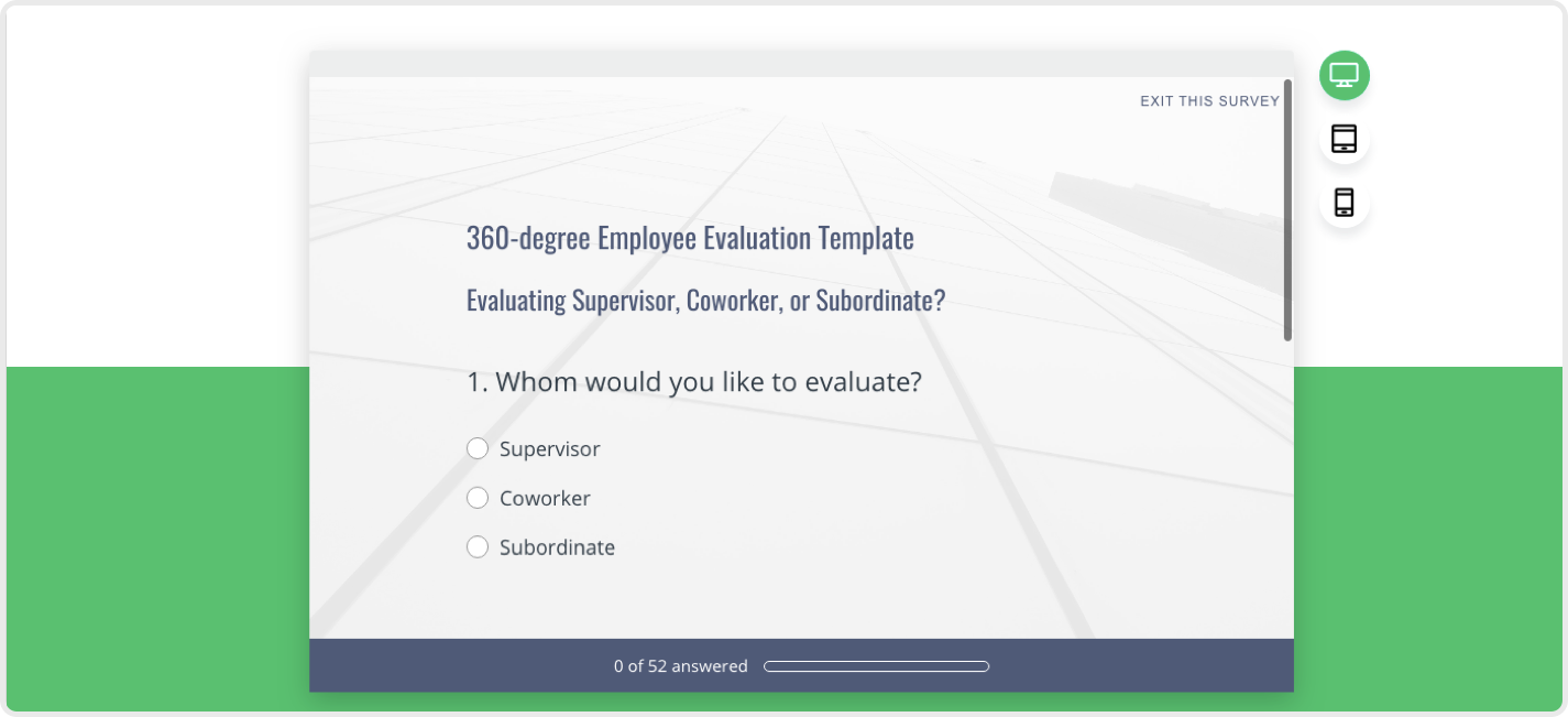SurveyMonkey lets you create 360 Feedback Surveys in no time