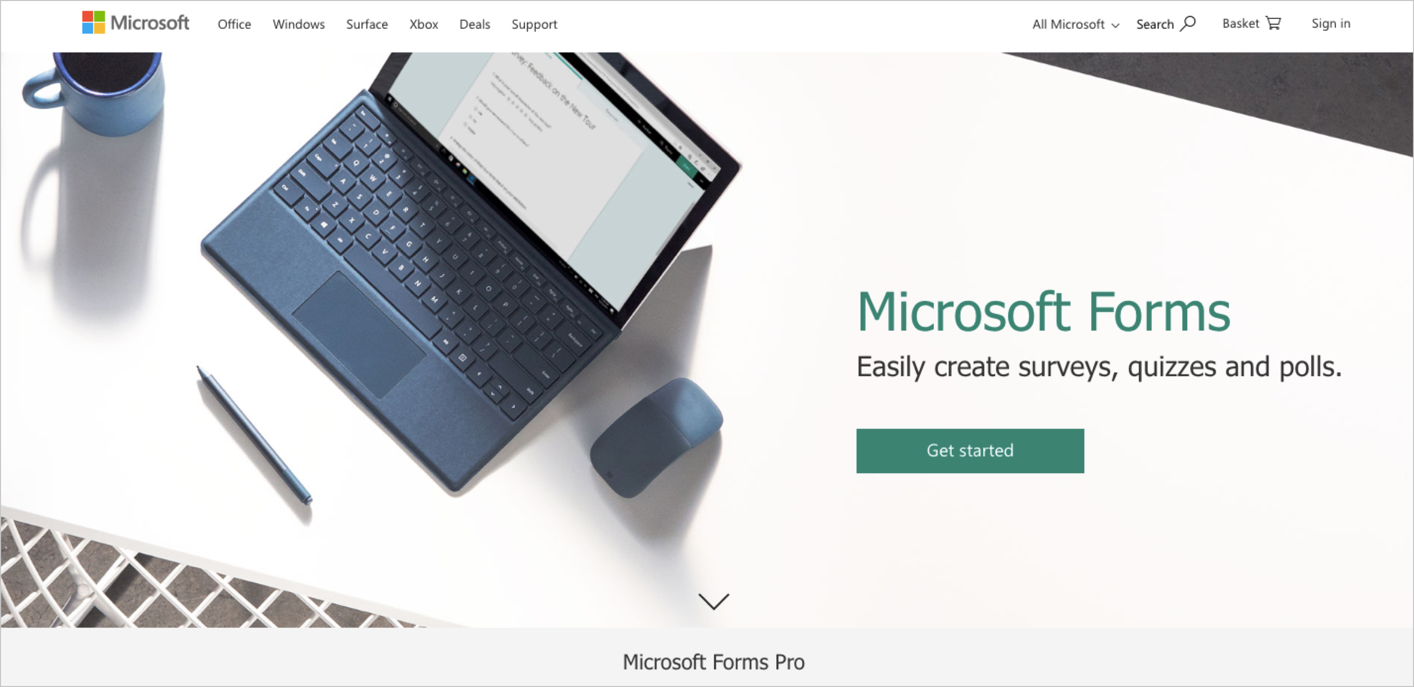 One of the most intuitive and best online form creators, Microsoft Forms integrates with Microsoft Office Suite.