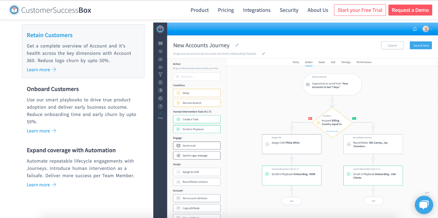 CustomerSuccessBox is a customer success software designed specifically for SaaS.