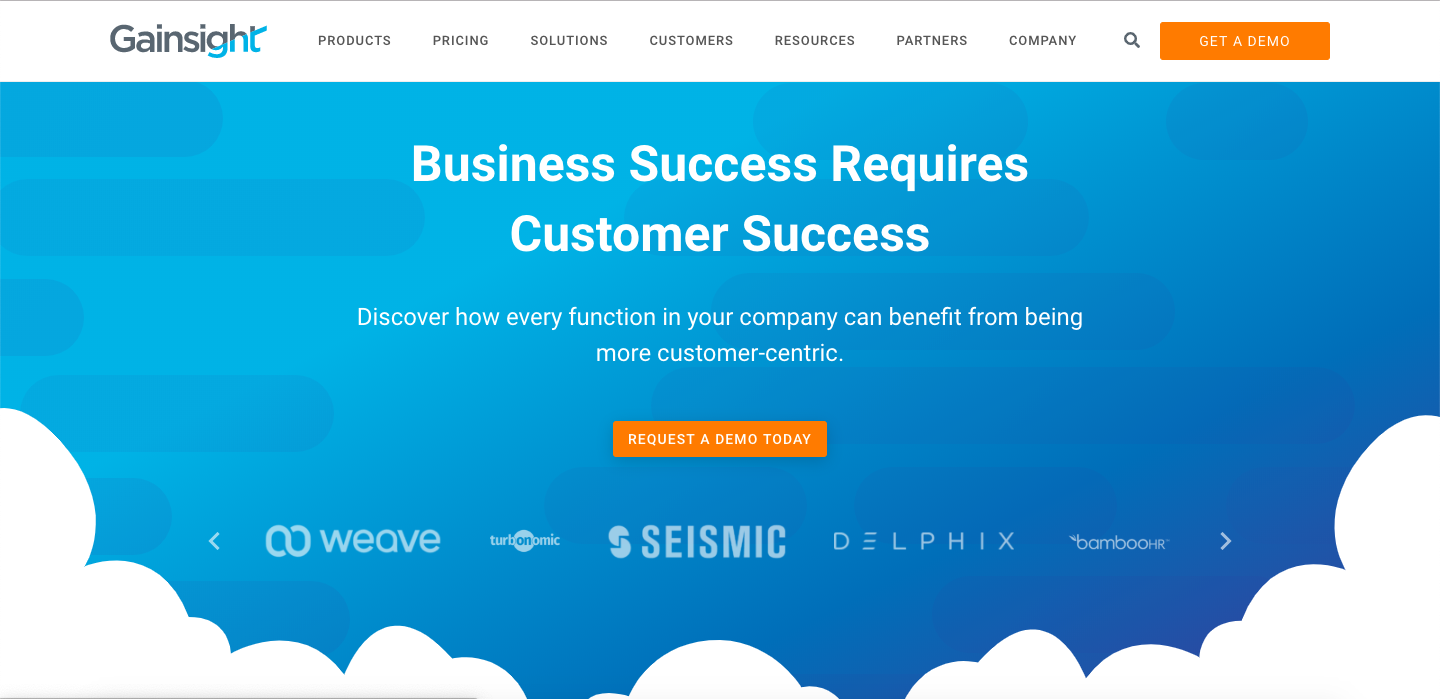GainSight provides definitive customer success solutions supported by a repository of features.