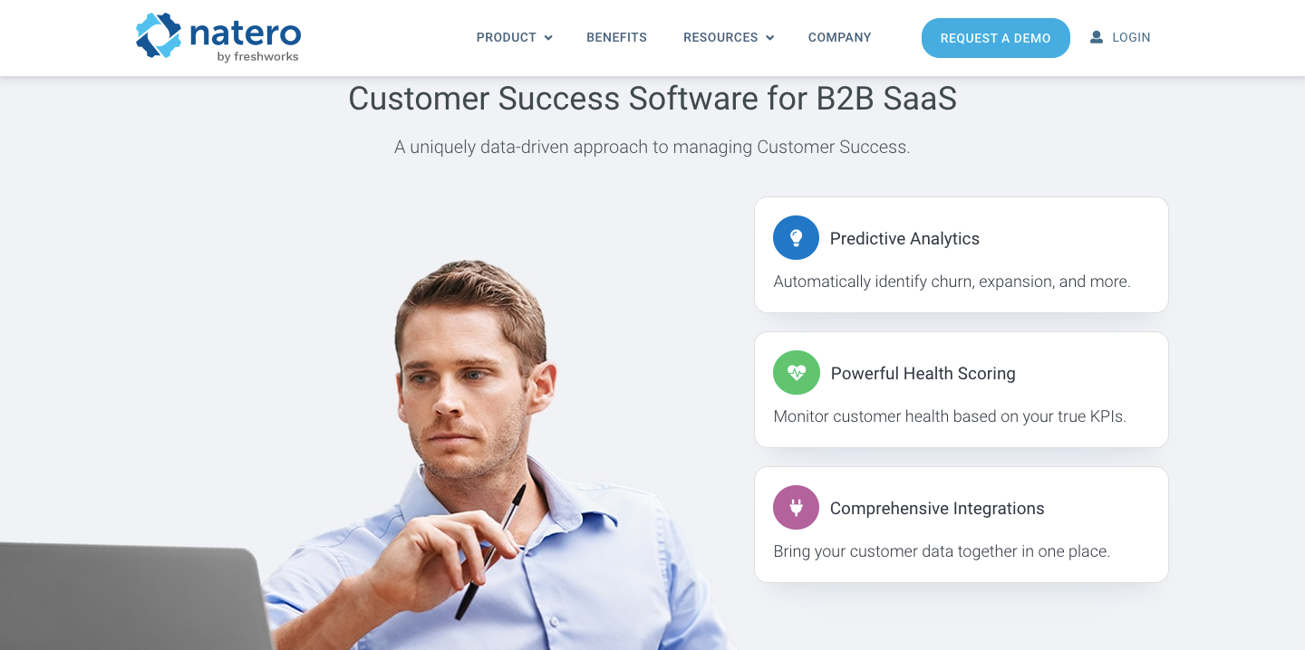 Natero follows a purely data-driven approach to help you get into the good books of customers.