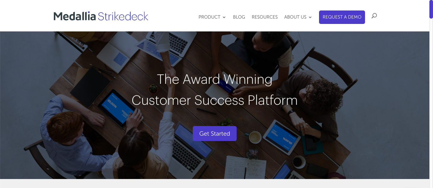 Strikedeck provides a live customer happiness score by combining data from CRM allowing you to segment customers and provide personalised services.