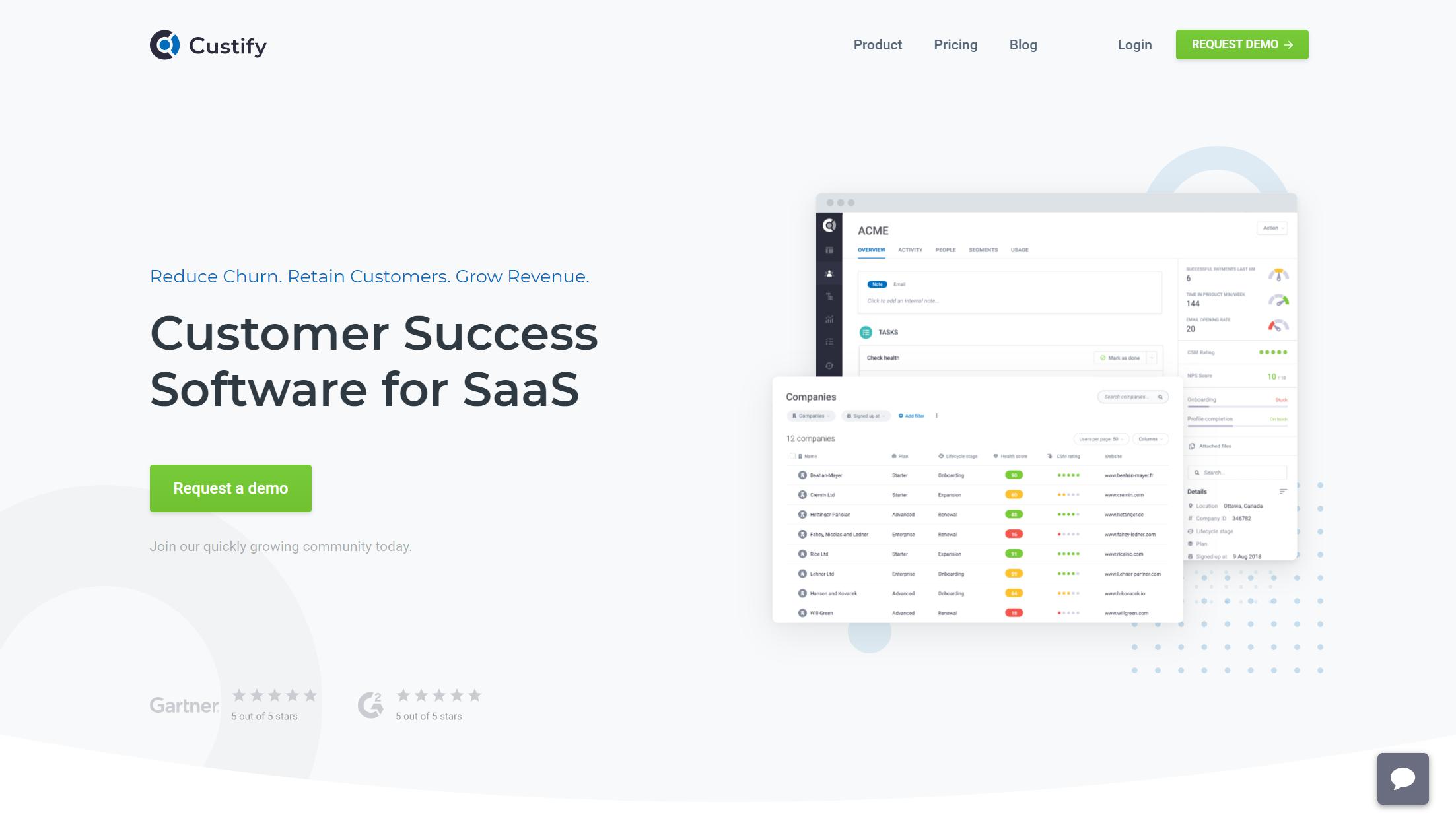 customer success software - Custify