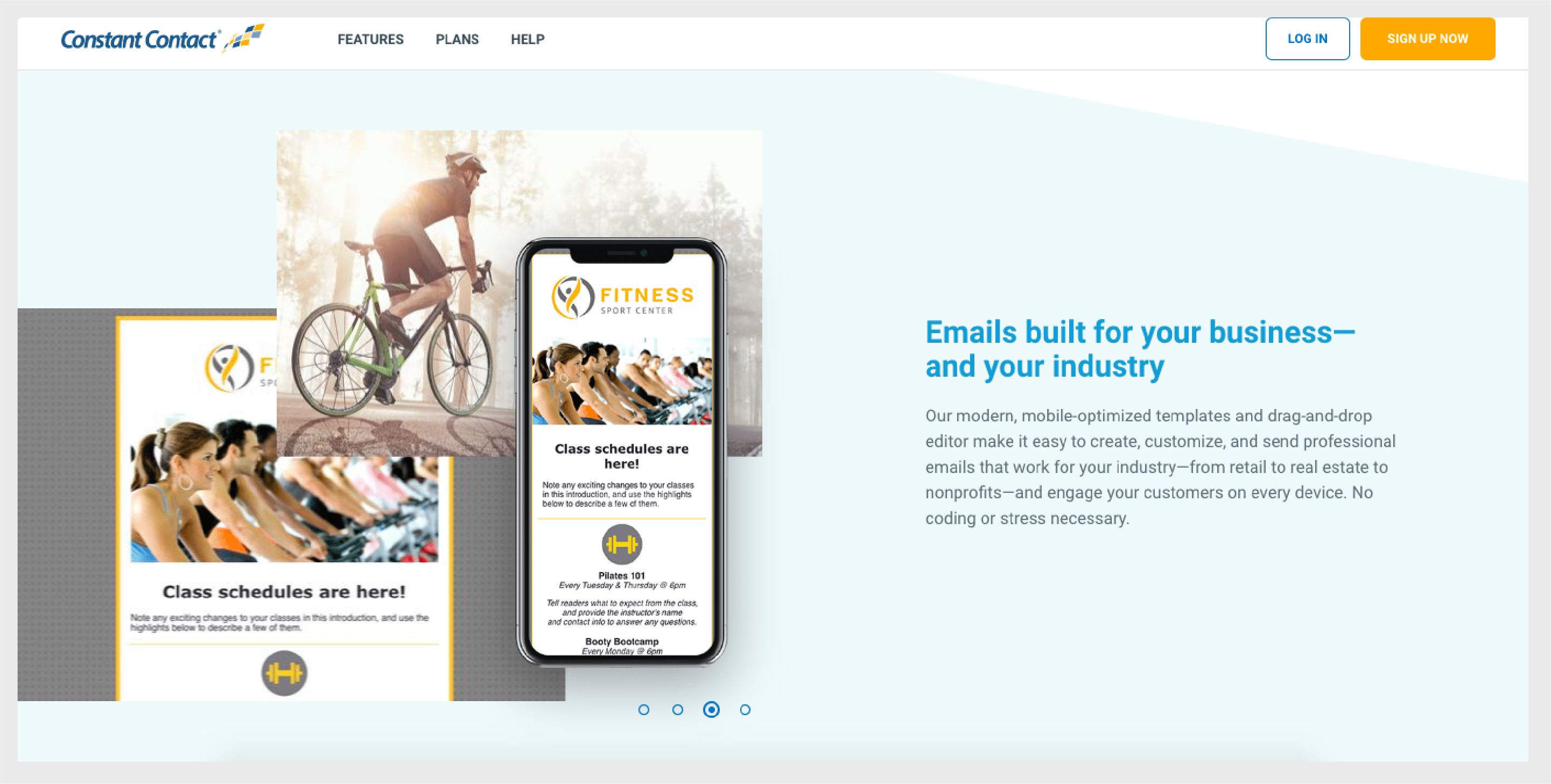 ConstantContact lets you create highly optimized emails fit for any device.
