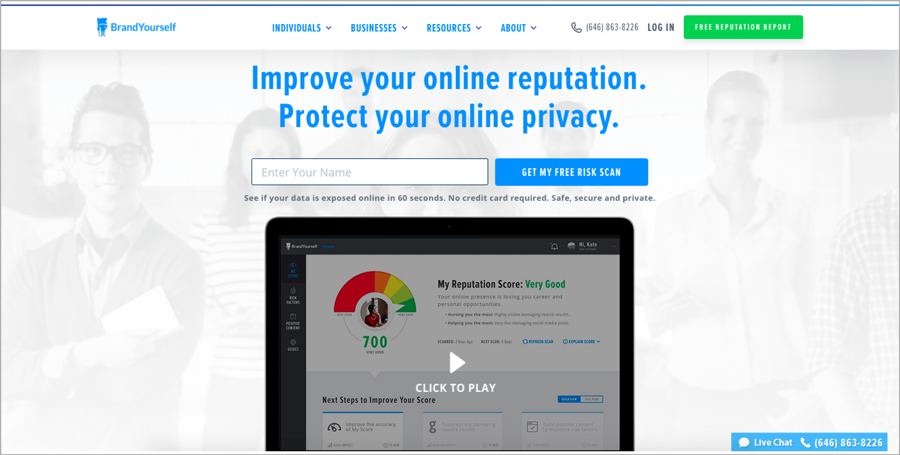 BrandYourself is a personal branding and online reputation management software that's been supporting both large and small businesses alike.