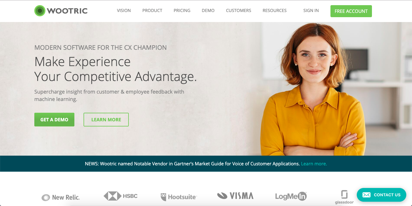 Wootric is a platform that focuses on both customer experience and online reputation management.