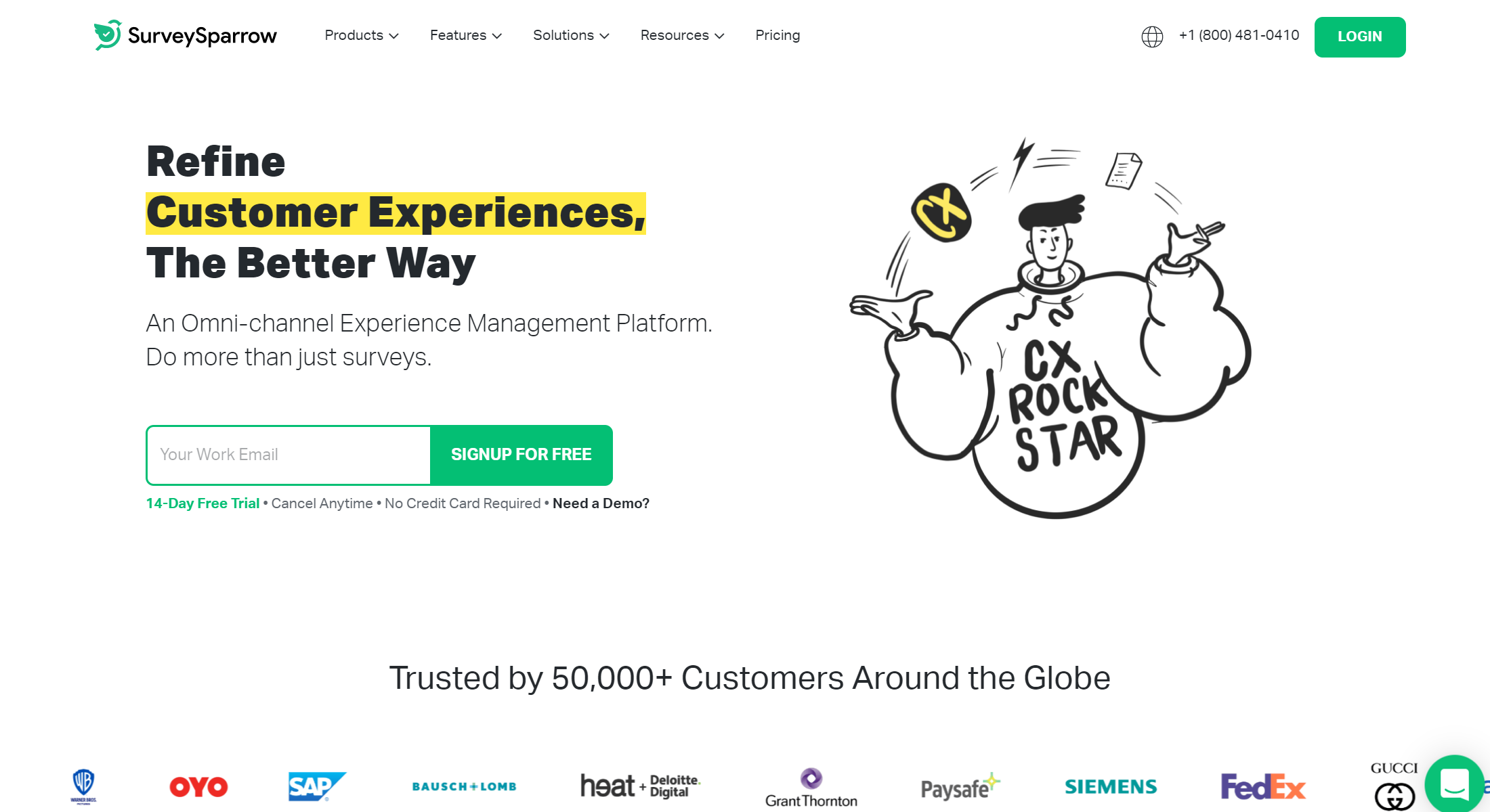 customer success software - SurveySparrow