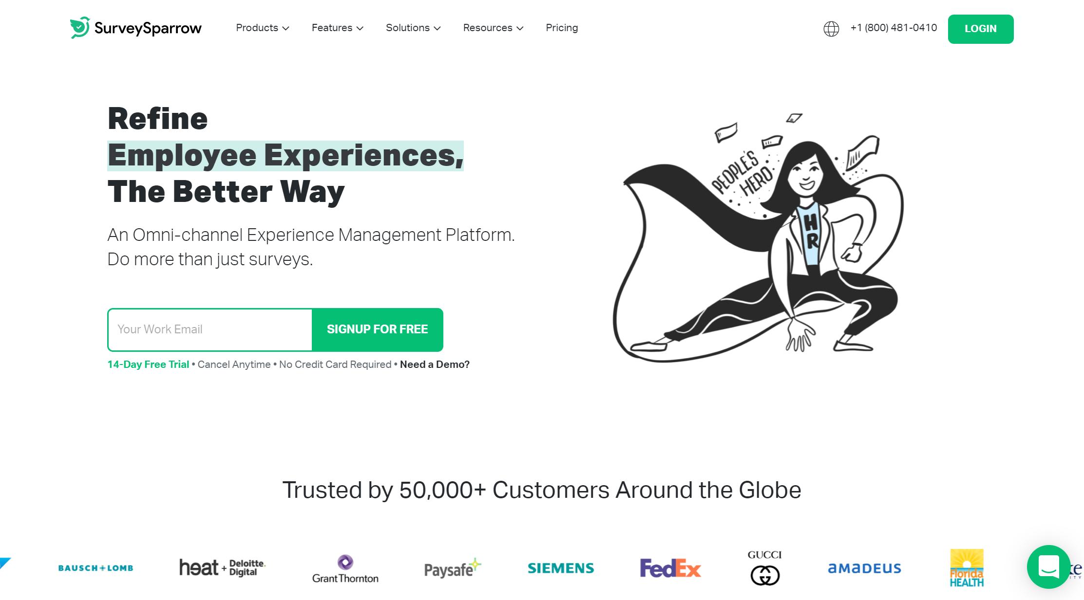 SurveySparrow email marketing tool