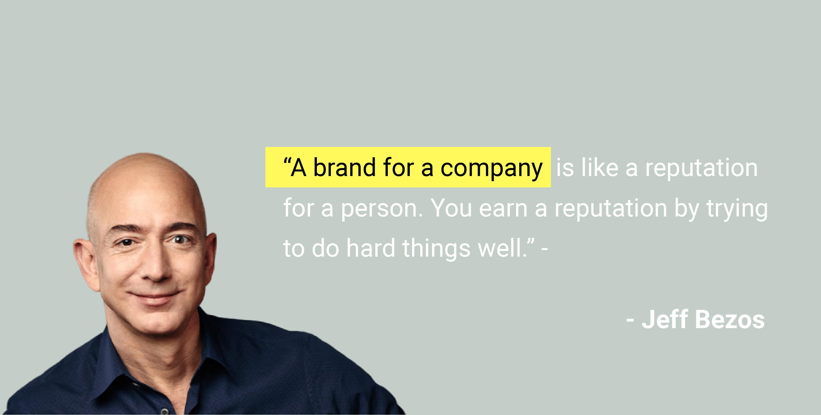 Quote by Jeff Bezos on Brand Development Strategies.