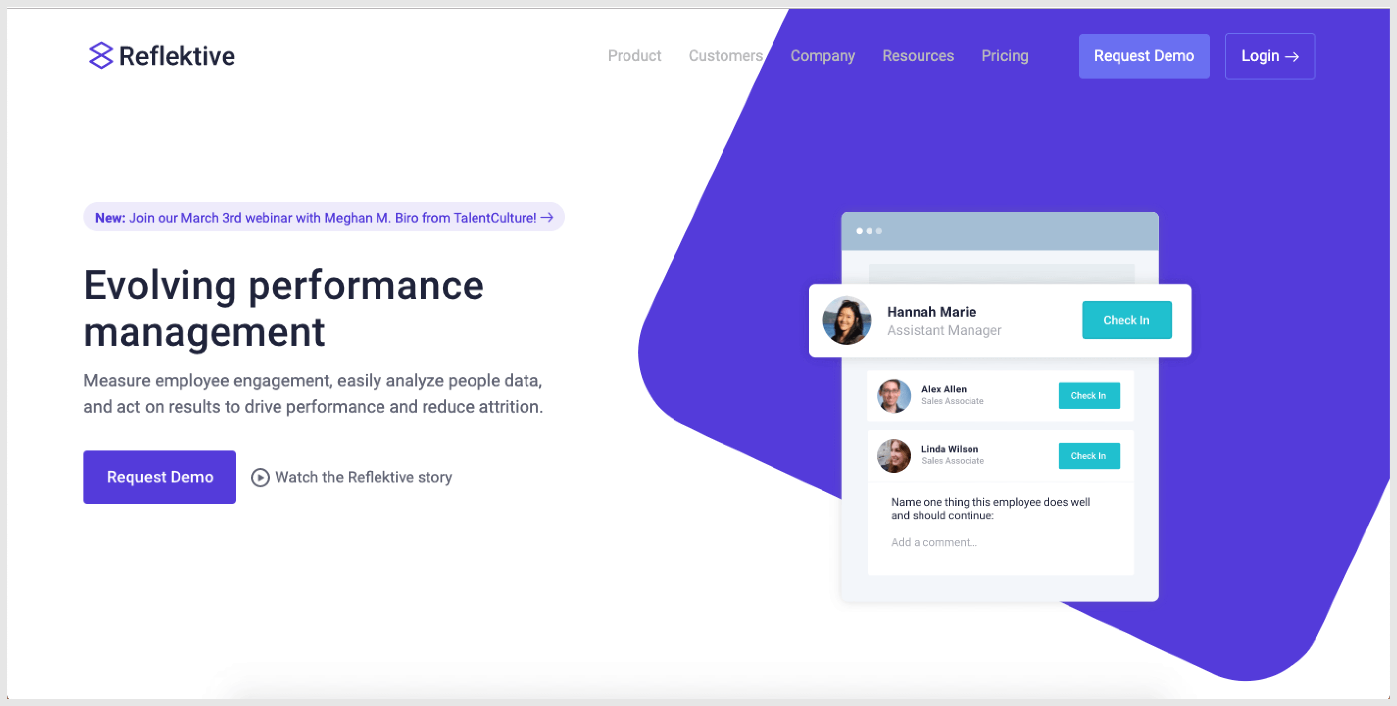 Reflektive - A performance management tool with seamless integrations.