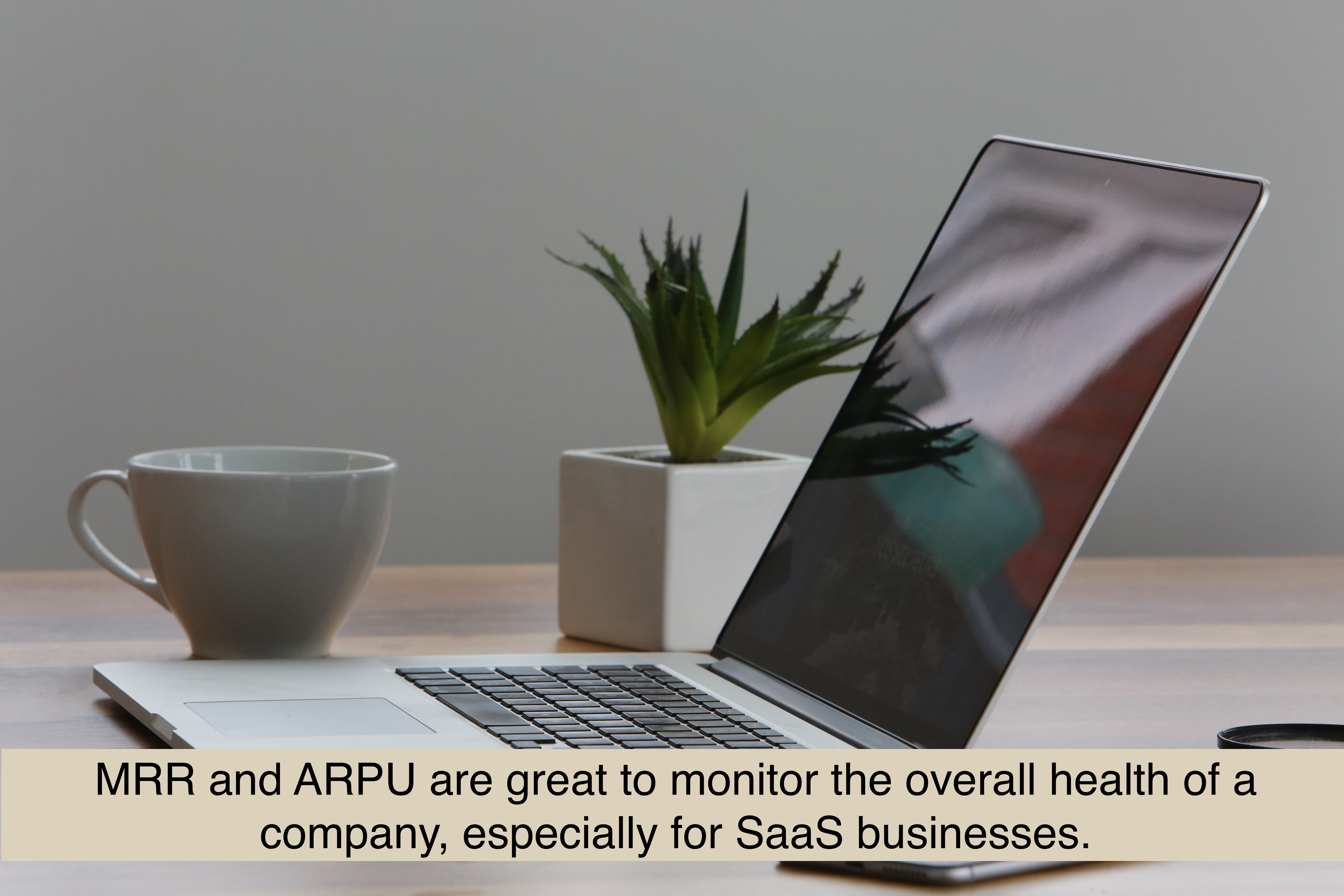 MRR and ARPU are great to monitor the overall health of a company, especially for SaaS businesses.