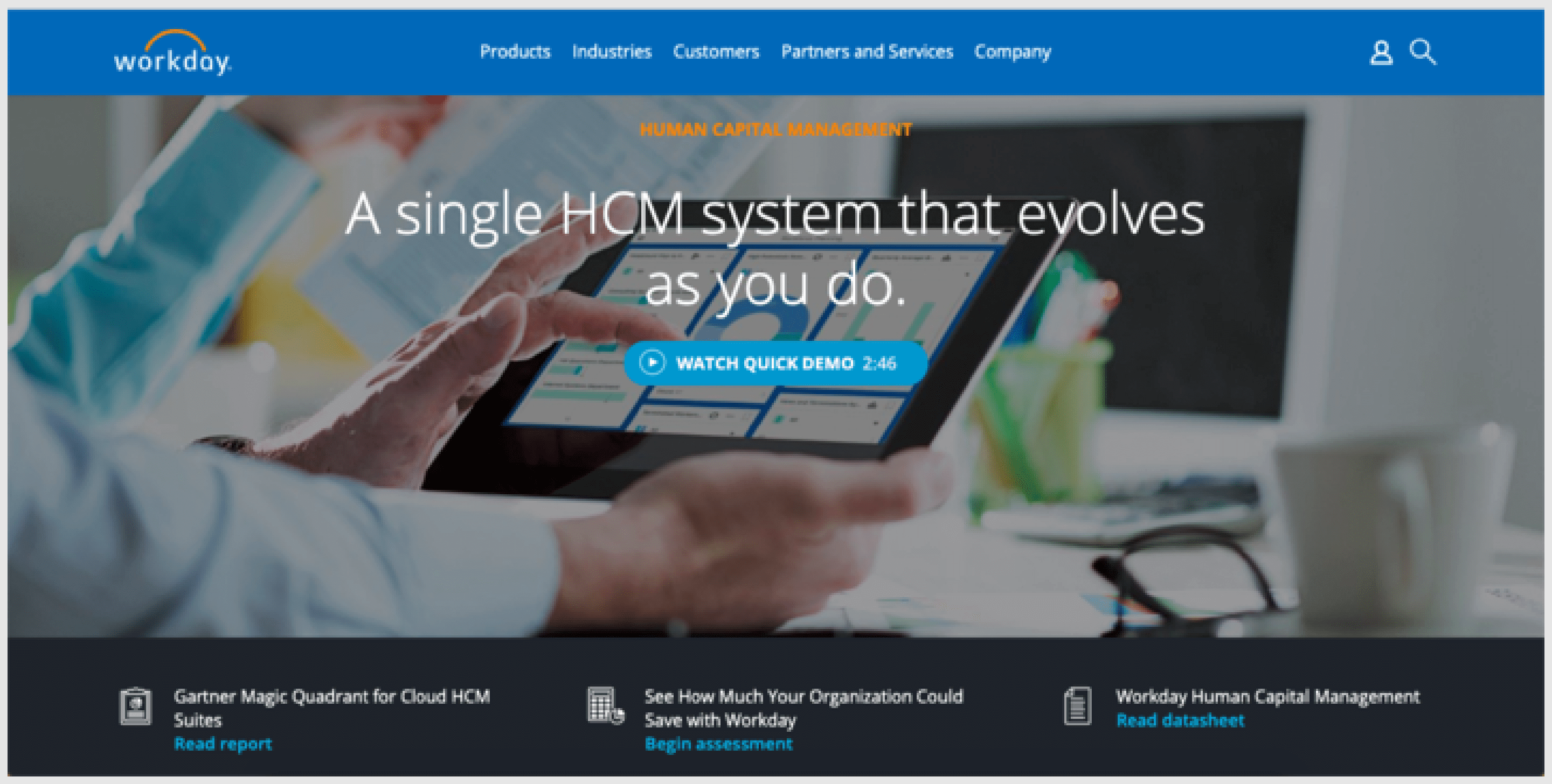 Workday HCM is a recruitment software that acts as 'a single system with a single source of data, single security model and single user experience' as stated by their team.