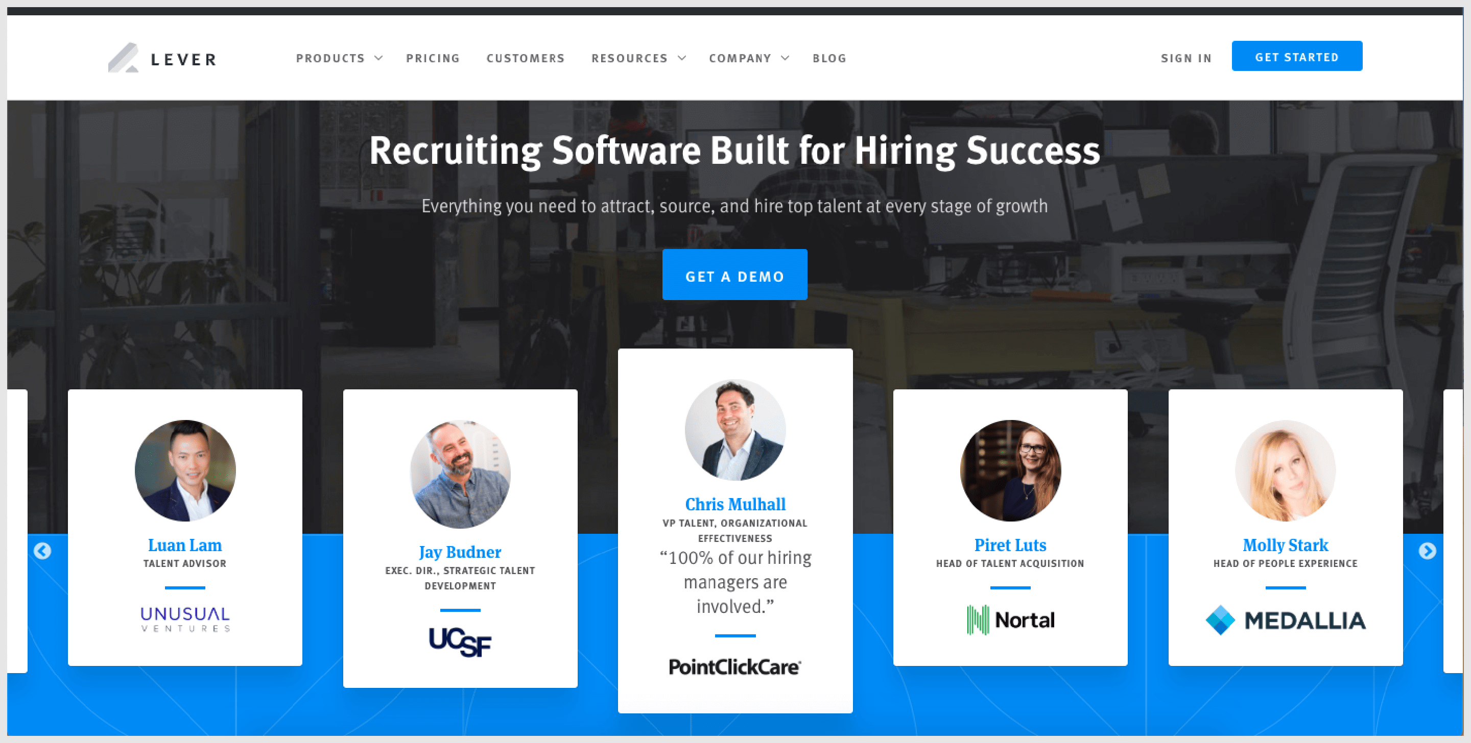 Lever combines powerful applicant tracking system and CRM functionality to deliver efficient services in regards to finding and hiring new talents.
