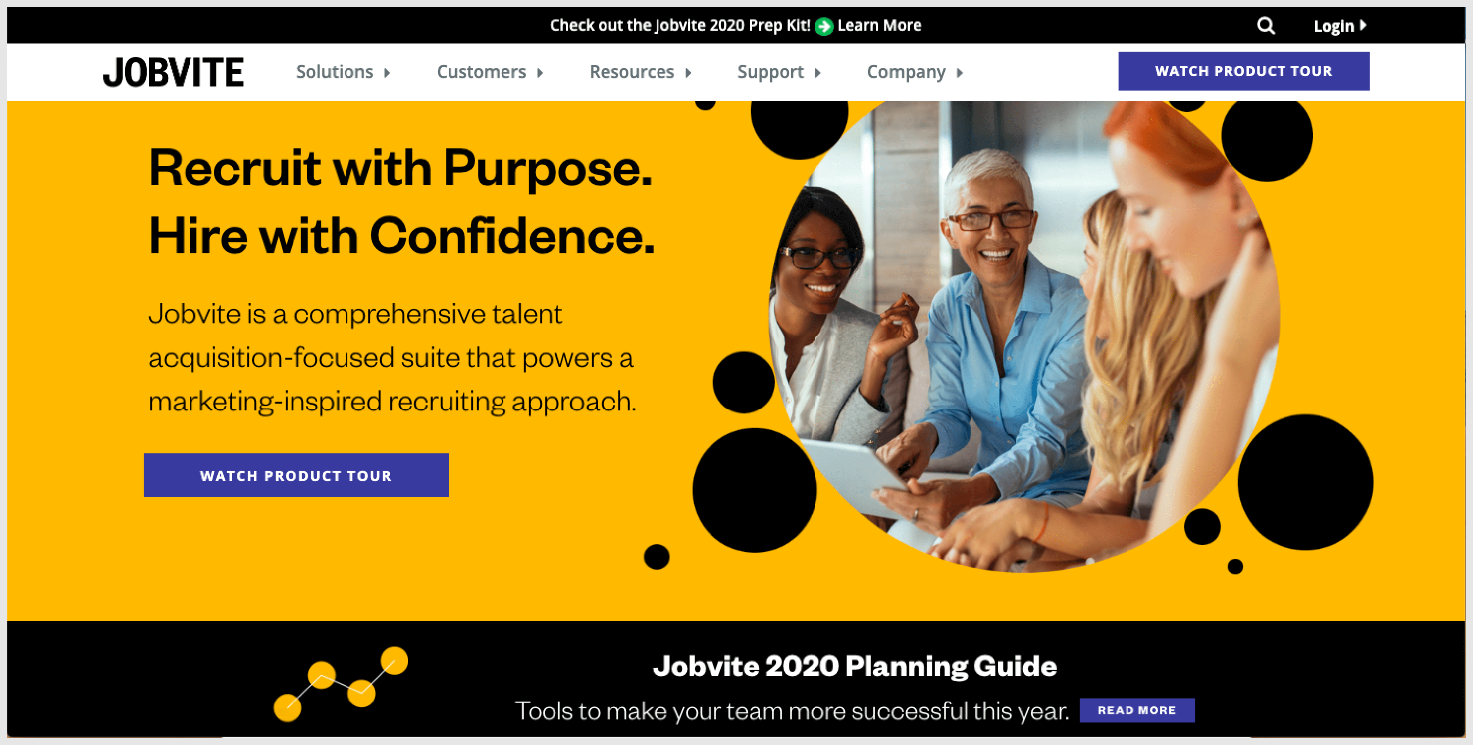 Jobvite is one of the best recruitment tools that follows a marketing-inspired recruiting approach.