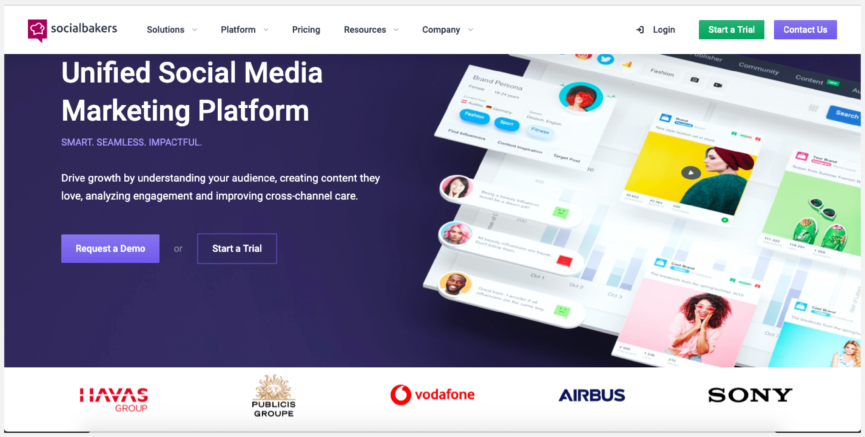 Socialbakers is an AI-enabled social media management software.