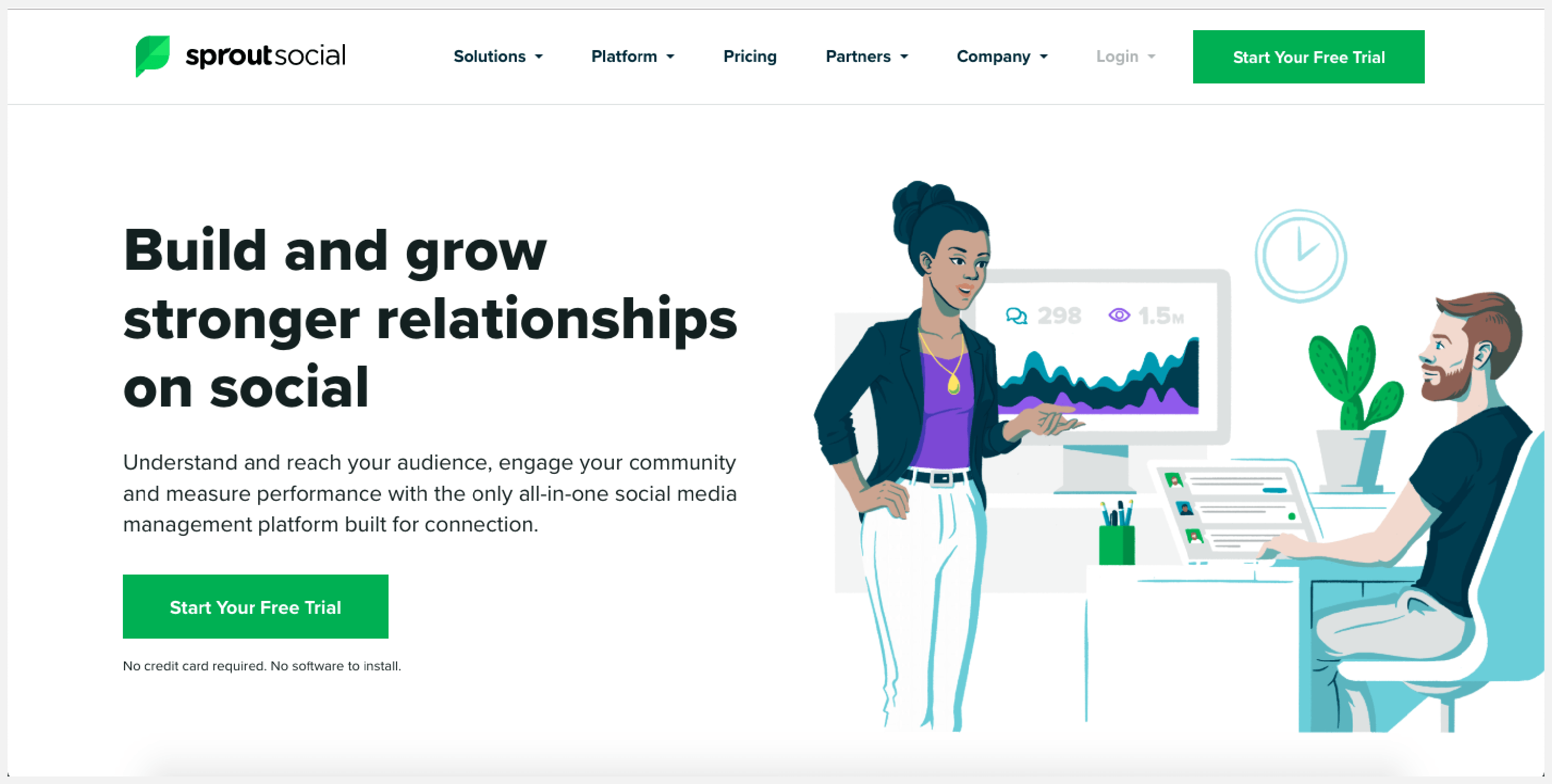 Social Sprout is one of the few social management tools that provide CRM features.