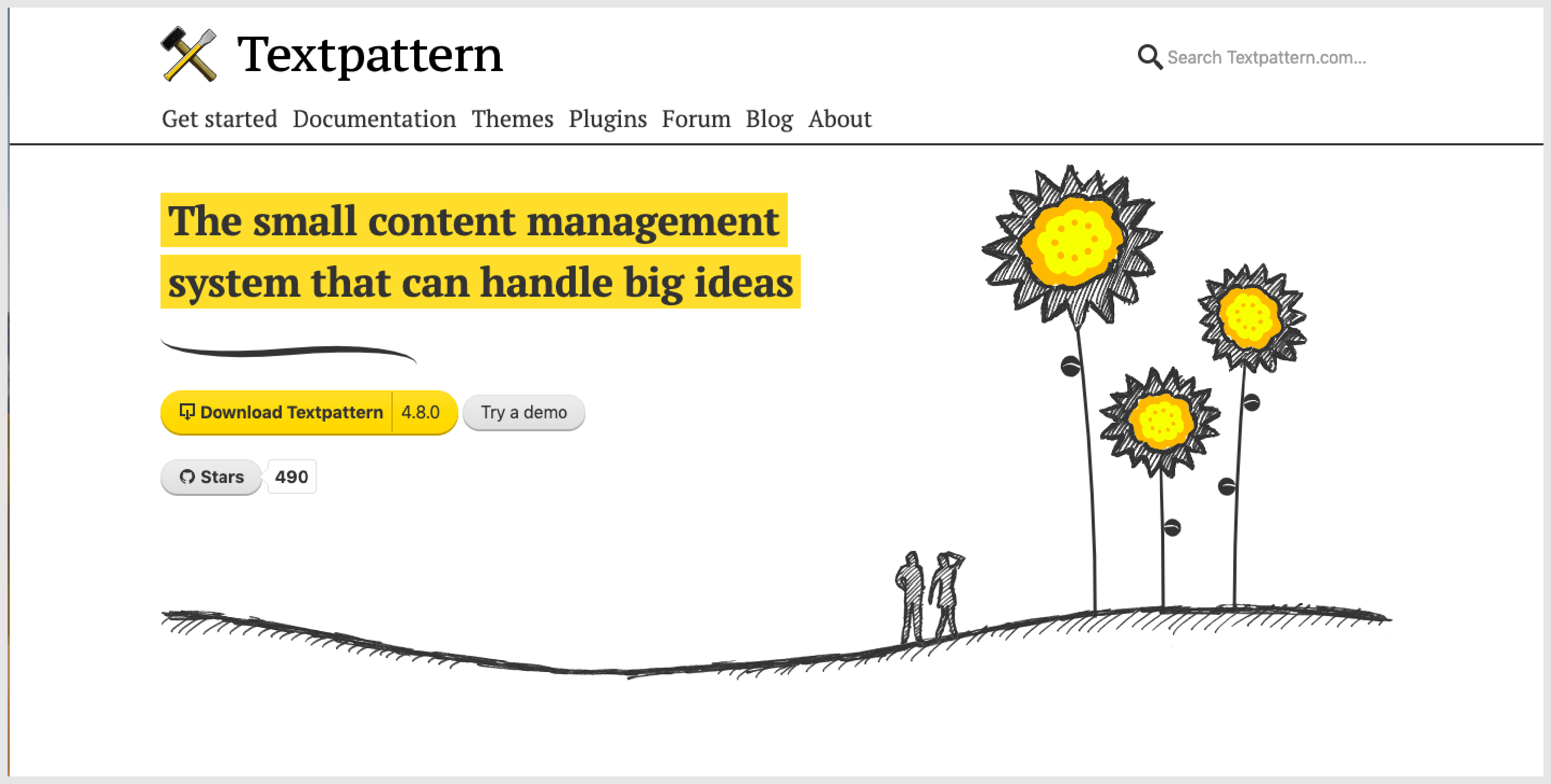 Textpattern is a free content management software.