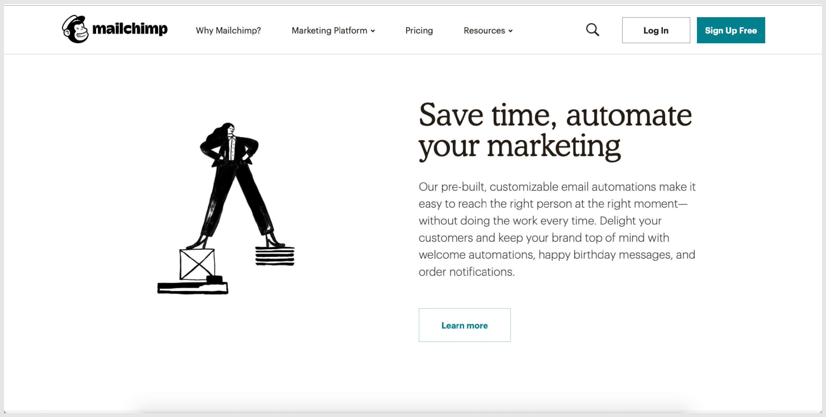 Mailchimp helps millions of businesses around the world by providing them AI-powered tools to help streamline workflow.