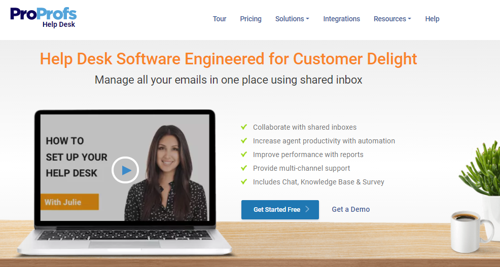 Proprofs helpdesk software