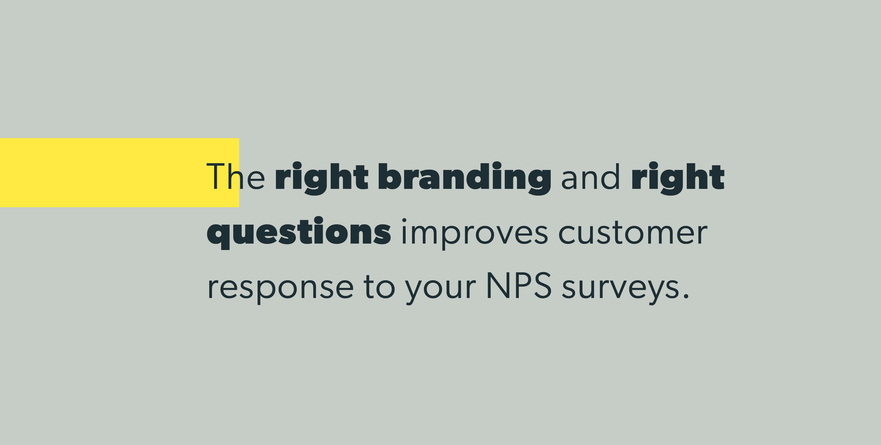 The right branding and right questions improves customer response to your NPS surveys.