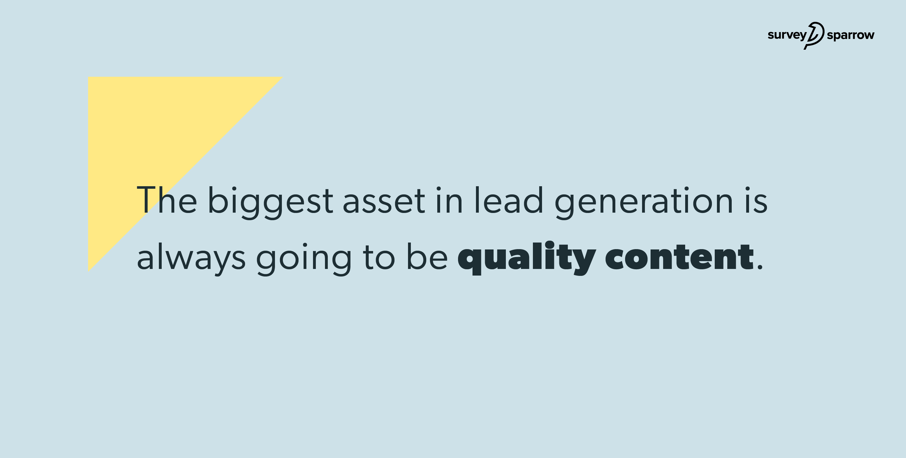 Lead Generation Strategy - Quality Content.