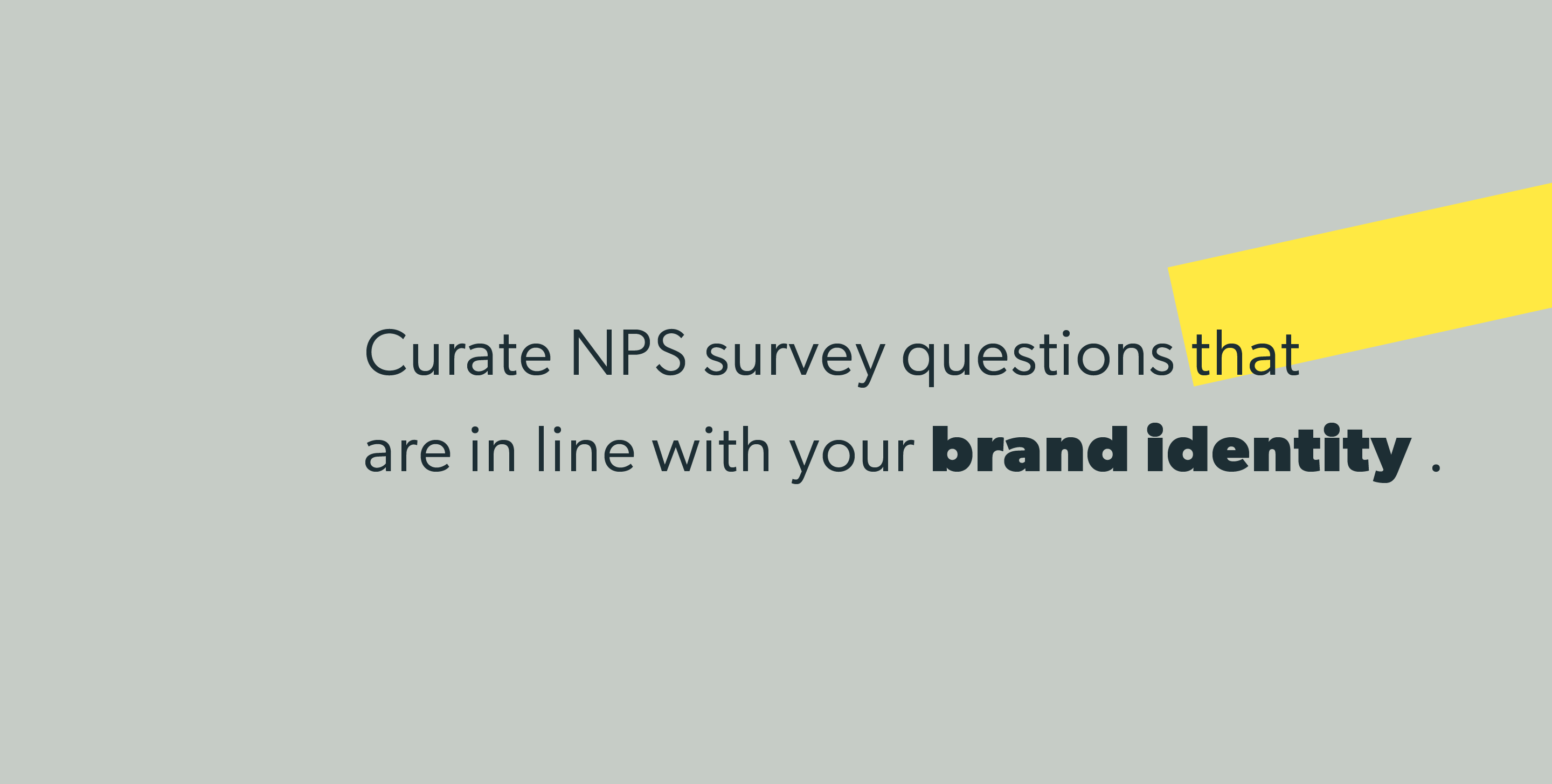 Curate NPS survey questions that are in line with your brand identity.