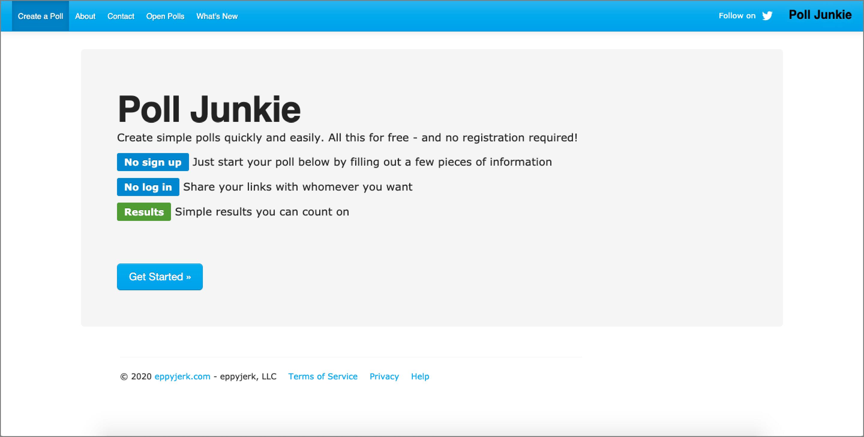 Poll App - Poll Junkie.