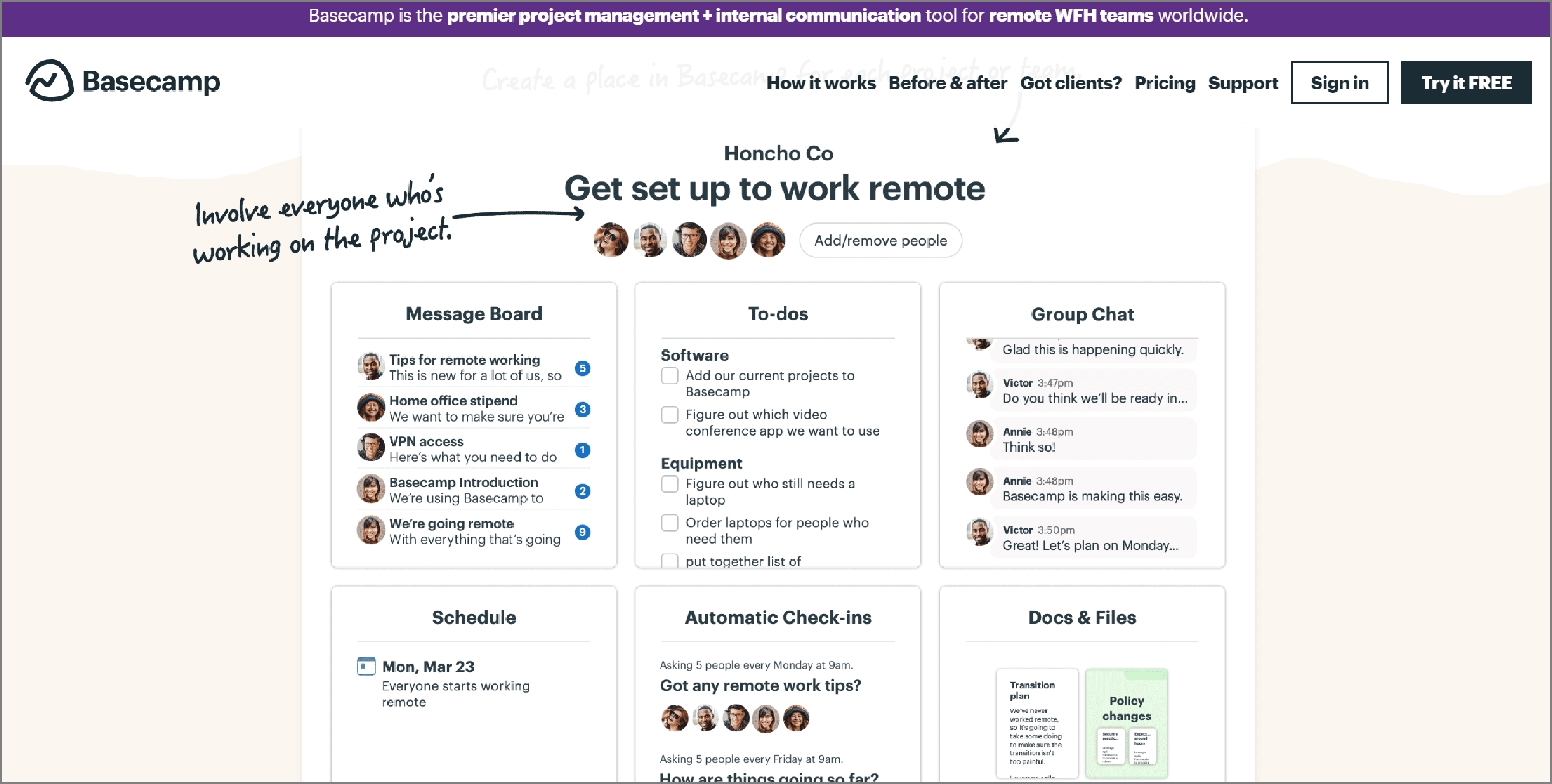 Project Management Software - Basecamp.