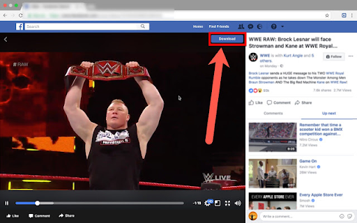 Download Facebook Videos from Chrome Browser.