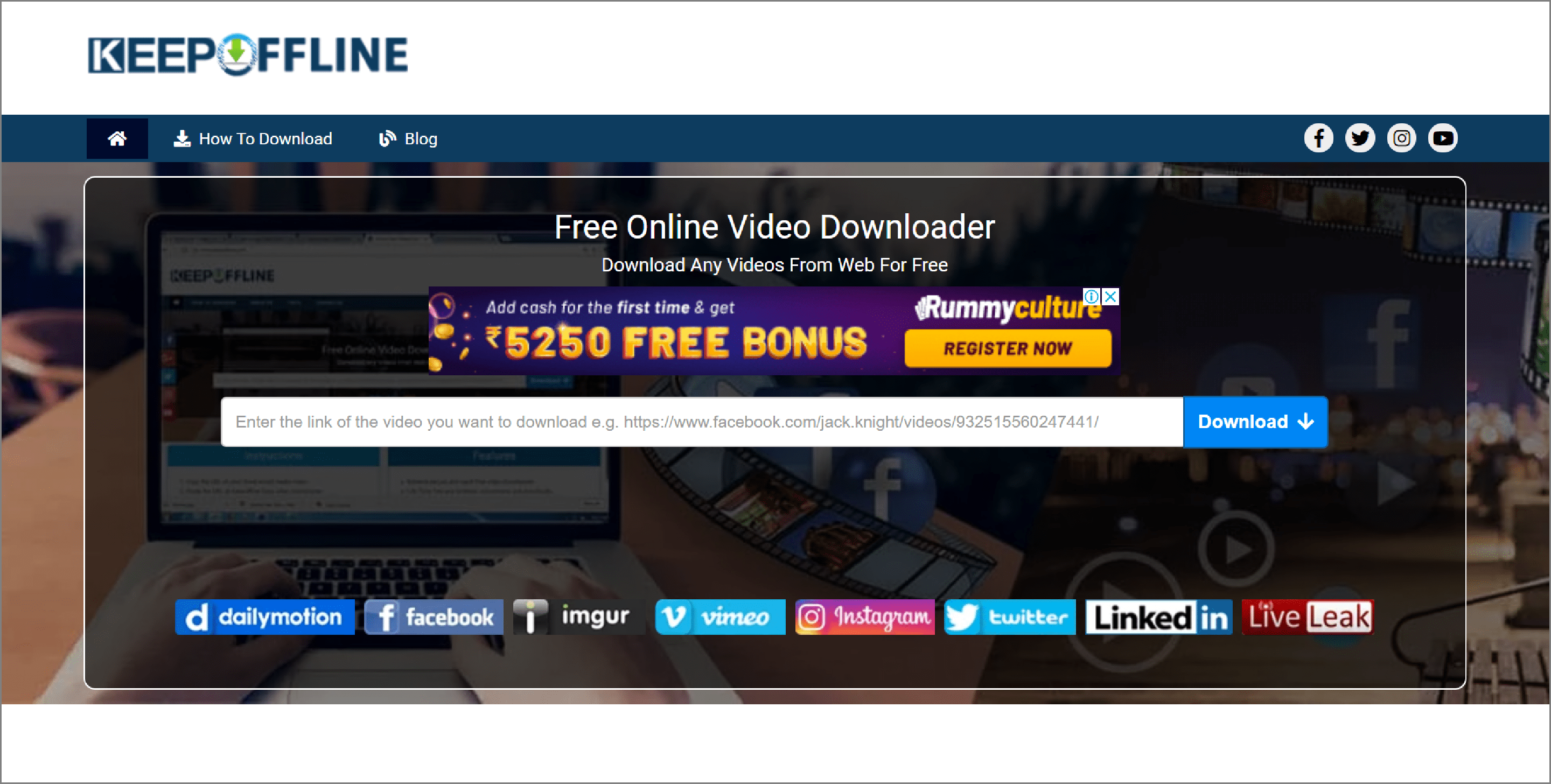 Keep Offline - source for downloading Facebook videos. videos.