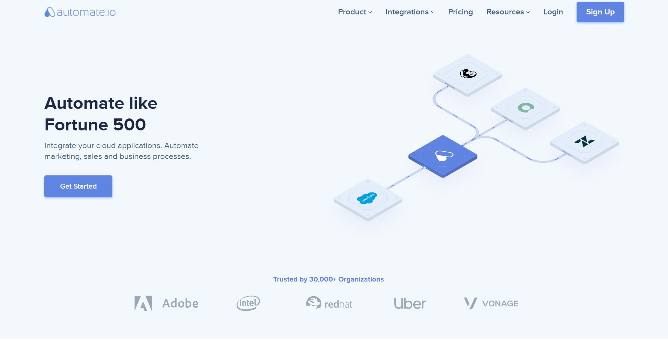 Automate.io nocode platform