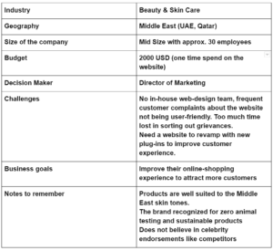 Ideal Customer Profile - Sample Template.