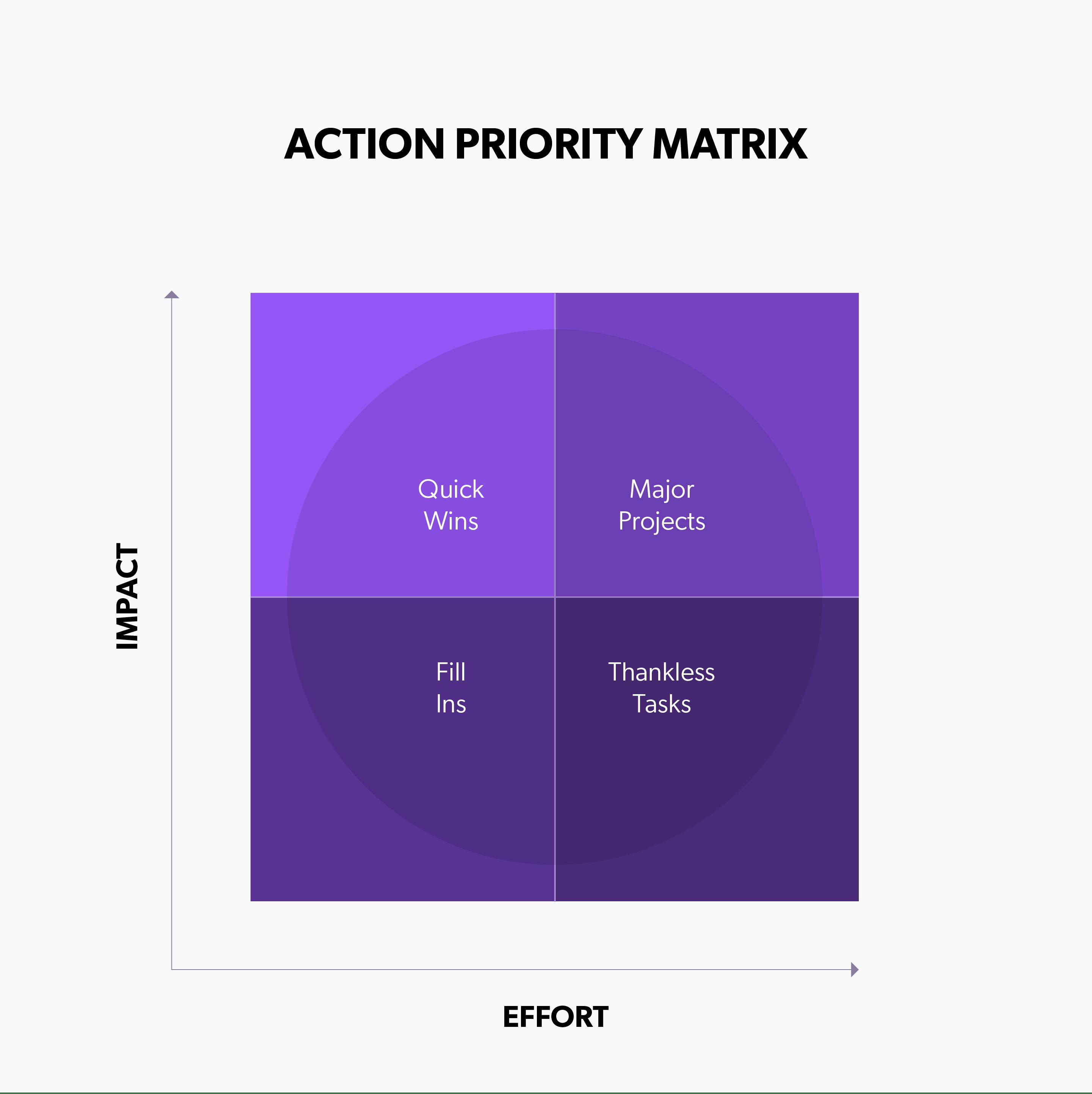 Action Priority Matrix.