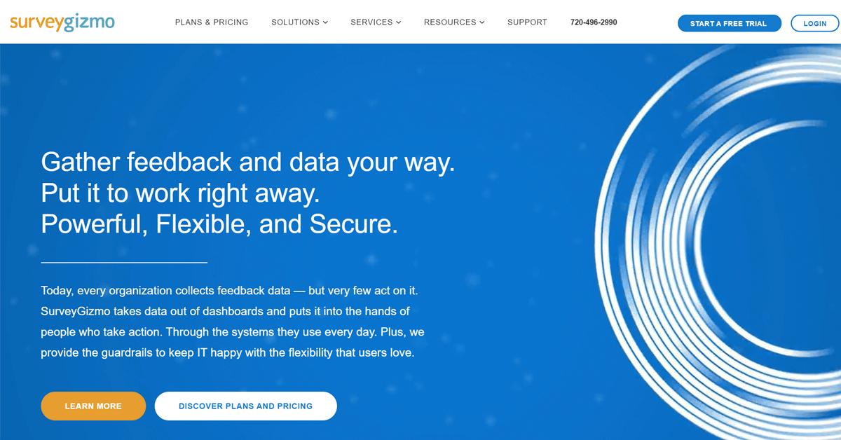 Jotform alternatives - SurveyGizmo