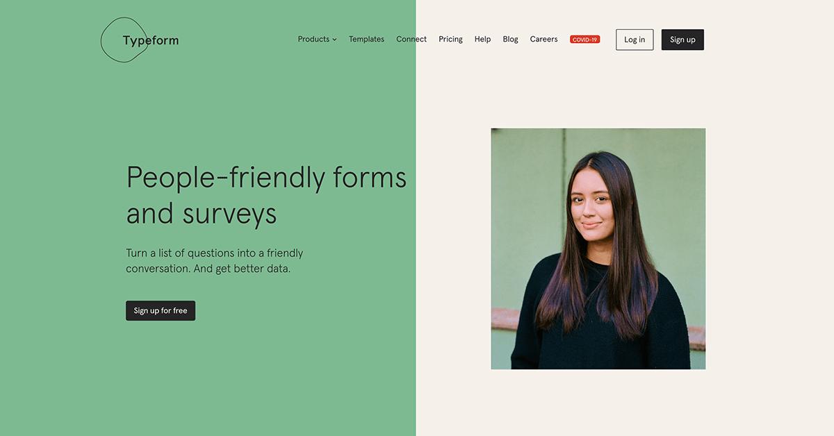 JotForm competitors - Typeform
