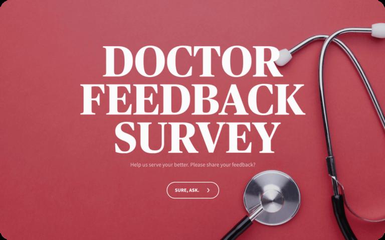 doctor feedback survey template