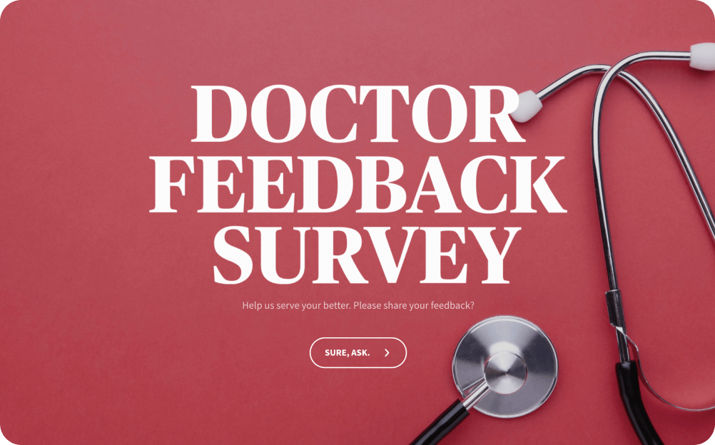 doctor feedback survey template