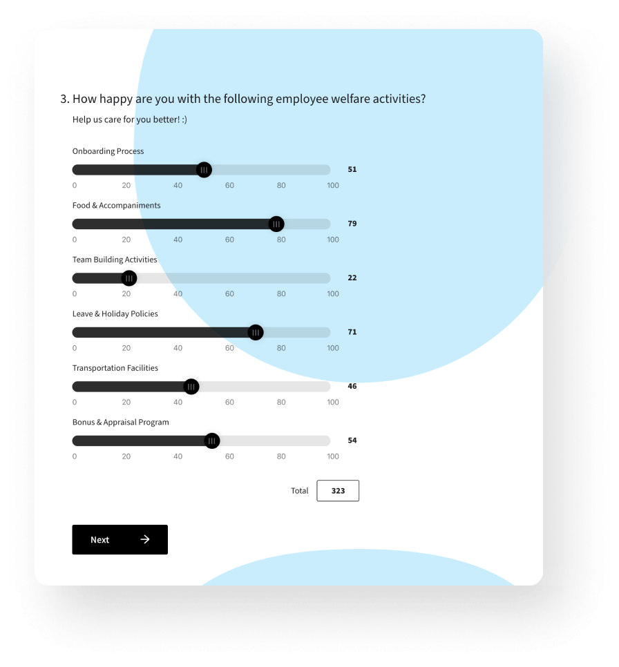 employee engagement surveys.