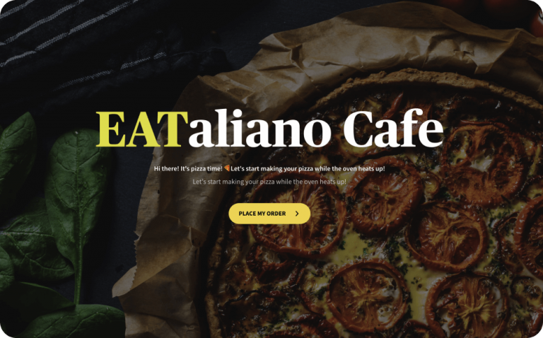 online pizza order form template
