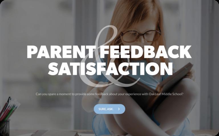 parent satisfaction survey template
