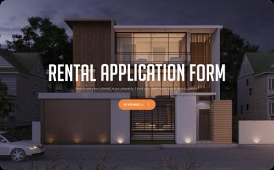 rental application form template