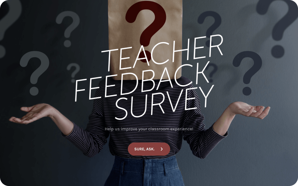 teacher feedback survey template
