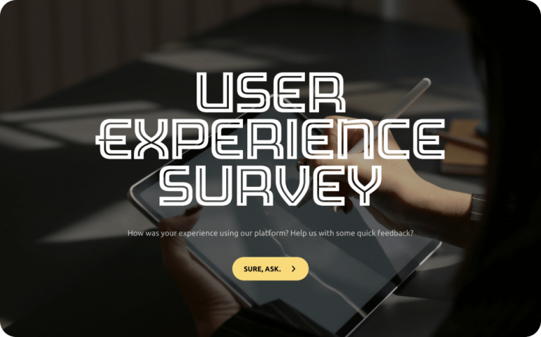 user experience survey template with questions