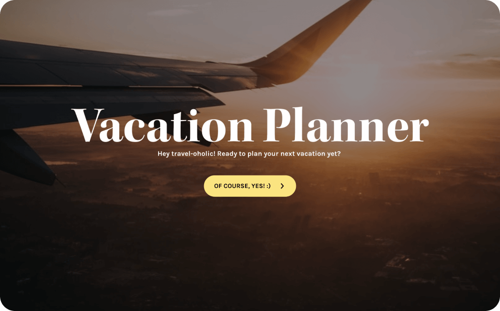 vacation planner form template