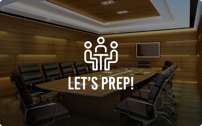 Meeting Preparation Chat Template