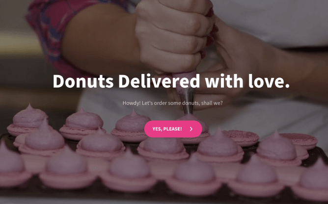 donut order form template