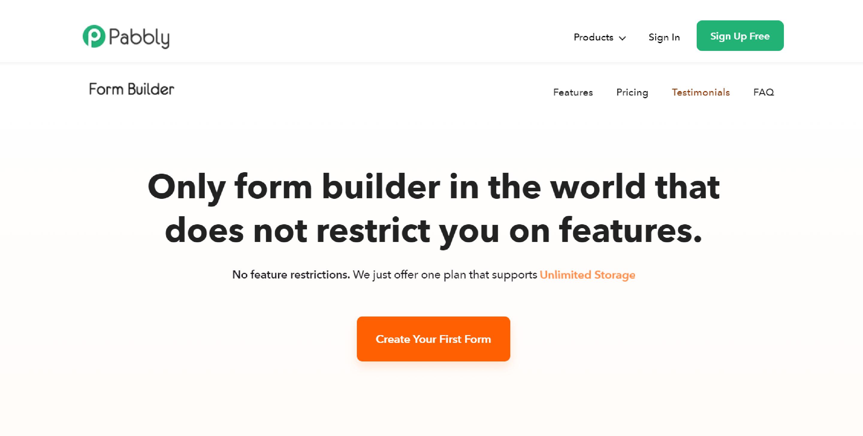 Pabbly - Google Forms alternative
