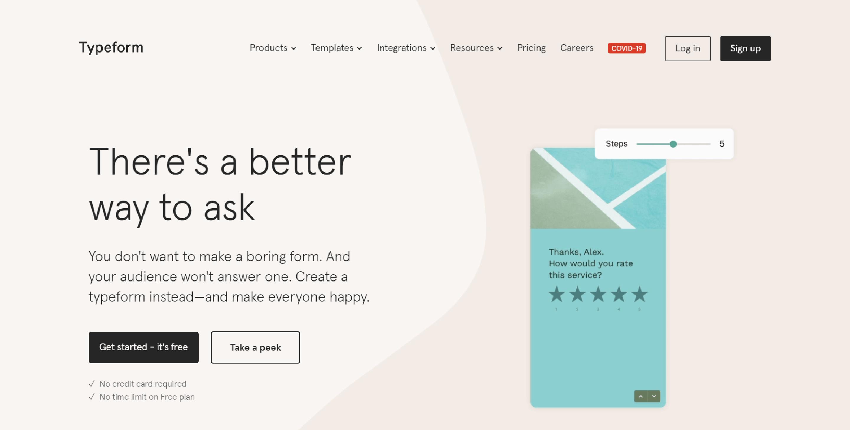 Typeform - Google Forms Alternative