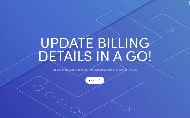 billing contact form template