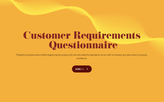customer requirement gathering survey template